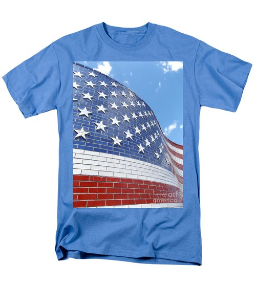 Red White And Blue Men's T-Shirt  (Regular Fit) by Erick Schmidt