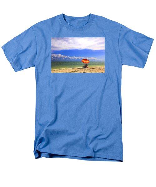Men's T-Shirt  (Regular Fit) featuring the digital art Relaxing On Sanibel by Sharon Batdorf