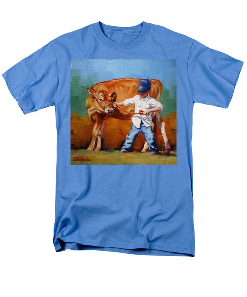 Men's T-Shirt  (Regular Fit) featuring the painting Reluctant Showgirl by Margaret Stockdale