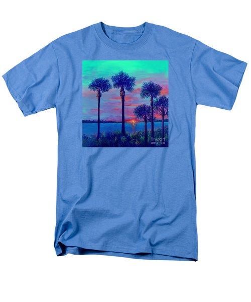 Ringling Bridge Sunset Men's T-Shirt  (Regular Fit) by Lou Ann Bagnall