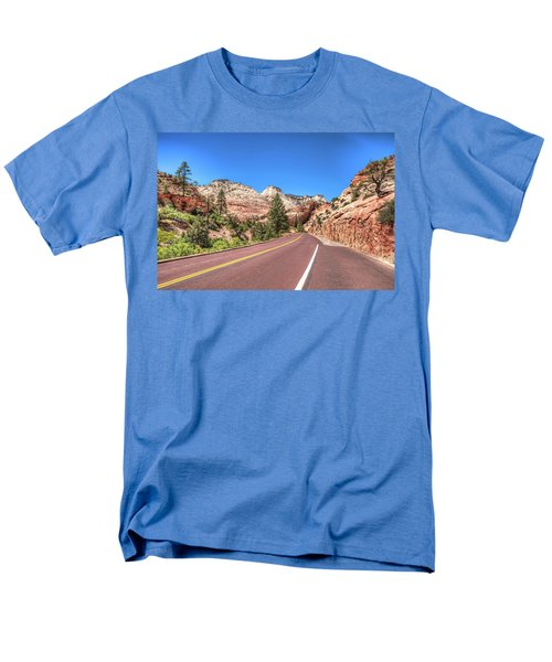 Men's T-Shirt  (Regular Fit) featuring the photograph Road To Zion by Brent Durken
