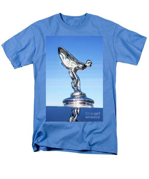 Men's T-Shirt  (Regular Fit) featuring the photograph Rolls Royce Hood Ornament by Aloha Art