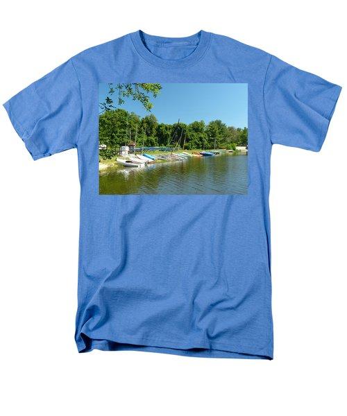 Sail Boats At Rest Men's T-Shirt  (Regular Fit) by Donald C Morgan