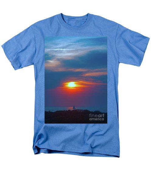 Sailboat Sunset Men's T-Shirt  (Regular Fit) by Todd Breitling