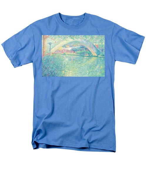 Men's T-Shirt  (Regular Fit) featuring the painting San Antonio Riverwalk by Felipe Adan Lerma
