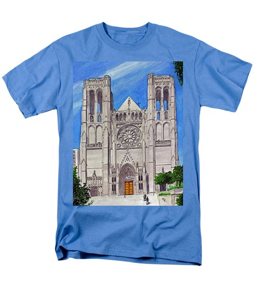San Francisco's Grace Cathedral Men's T-Shirt  (Regular Fit) by Mike Robles