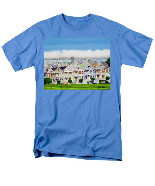 San Francisco's Painted Ladies Men's T-Shirt  (Regular Fit) by Mike Robles