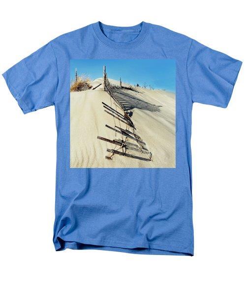 Sand Dune Fences And Shadows Men's T-Shirt  (Regular Fit)