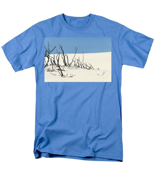 Men's T-Shirt  (Regular Fit) featuring the photograph Sand Dune With Dead Trees by Chevy Fleet