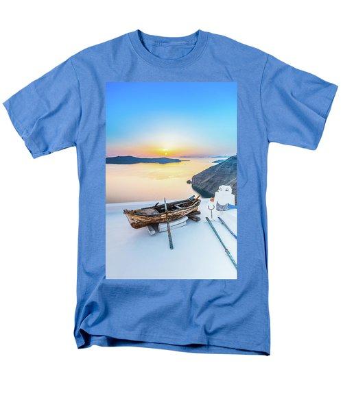 Santorini - Greece Men's T-Shirt  (Regular Fit)