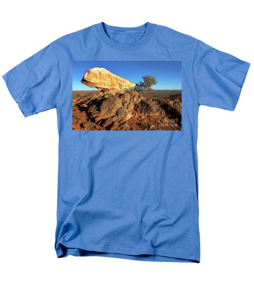 Men's T-Shirt  (Regular Fit) featuring the photograph Sculpture Park Broken Hill by Bill Robinson