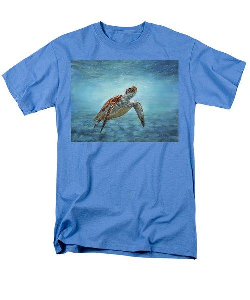 Sea Turtle Men's T-Shirt  (Regular Fit) by David Stribbling