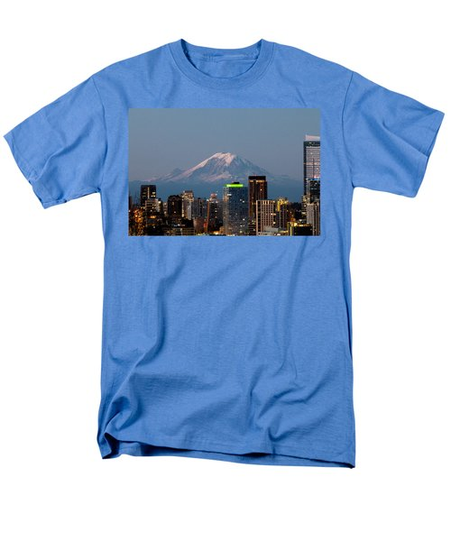 Seattle-mt. Rainier In The Morning Light.2 Men's T-Shirt  (Regular Fit) by E Faithe Lester