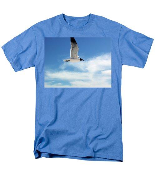 Serenity Seagull Men's T-Shirt  (Regular Fit) by Marie Hicks