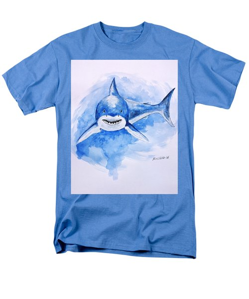 Men's T-Shirt  (Regular Fit) featuring the painting Shark by Edwin Alverio