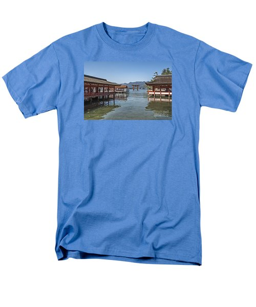 Men's T-Shirt  (Regular Fit) featuring the photograph Shrine Over Water by Pravine Chester