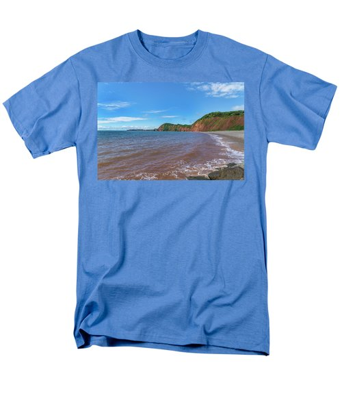 Men's T-Shirt  (Regular Fit) featuring the photograph Sidmouth Jurassic Coast by Scott Carruthers