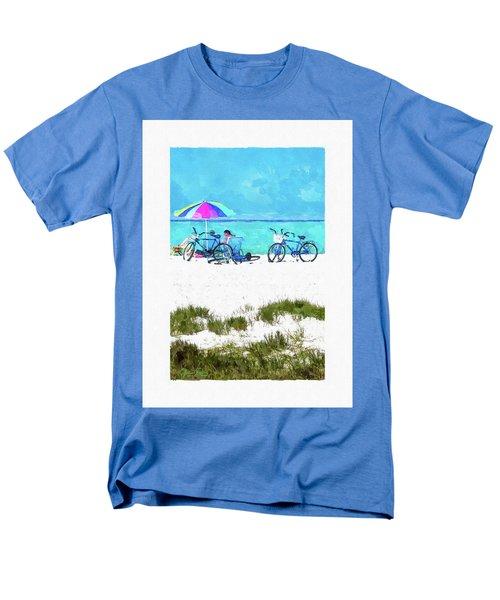 Siesta Key Beach Bikes Men's T-Shirt  (Regular Fit) by Susan Molnar