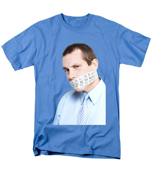 Men's T-Shirt  (Regular Fit) featuring the photograph Silent Businessman Showing Measured Restraint by Jorgo Photography - Wall Art Gallery