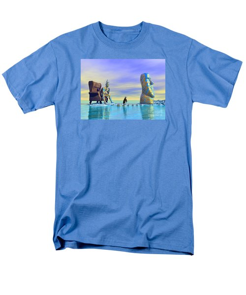 Men's T-Shirt  (Regular Fit) featuring the digital art Silent Mind - Surrealism by Sipo Liimatainen