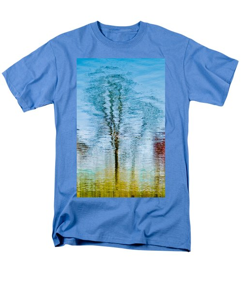 Silver Lake Tree Reflection Men's T-Shirt  (Regular Fit) by Michael Bessler