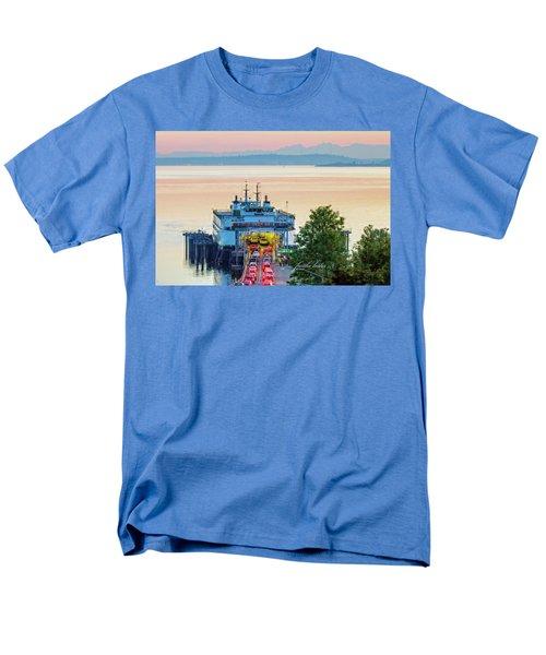 Six O'clock Ferry.2 Men's T-Shirt  (Regular Fit) by E Faithe Lester