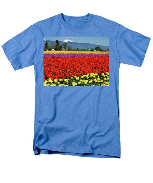 Skagit Valley Tulip Fields Men's T-Shirt  (Regular Fit)