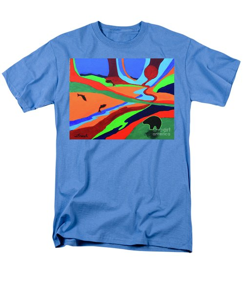 Sky Rivers Men's T-Shirt  (Regular Fit) by Jeanette French