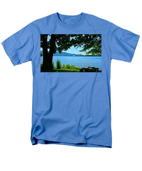Smith Mountain Lake Sailor Men's T-Shirt  (Regular Fit) by The American Shutterbug Society