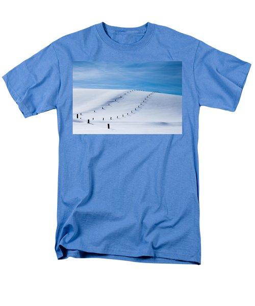 Snow Covered Pasture Men's T-Shirt  (Regular Fit) by Sean Allen