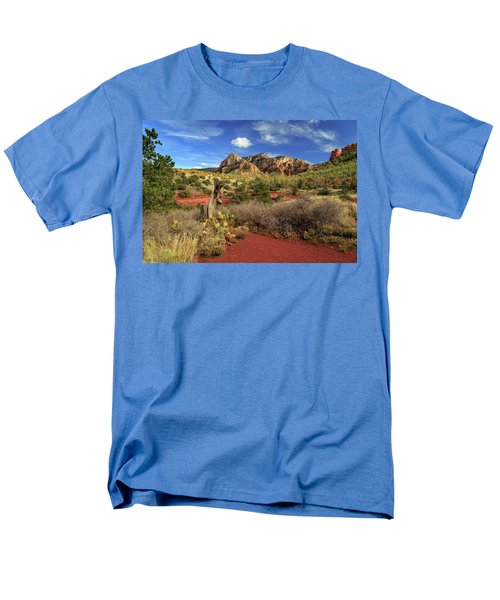 Men's T-Shirt  (Regular Fit) featuring the photograph Some Cactus In Sedona by James Eddy