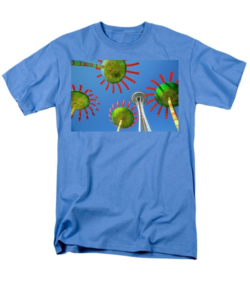 Men's T-Shirt  (Regular Fit) featuring the photograph Sonic Bloom In Seattle Center by Adam Romanowicz