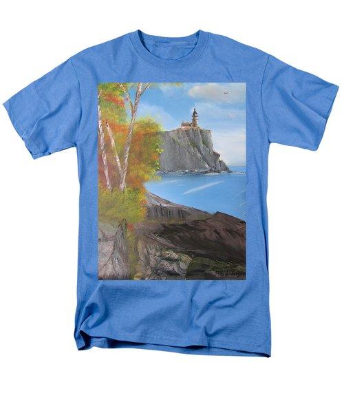 Split Rock Lighthouse Minnesota Men's T-Shirt  (Regular Fit) by Thomas Janos