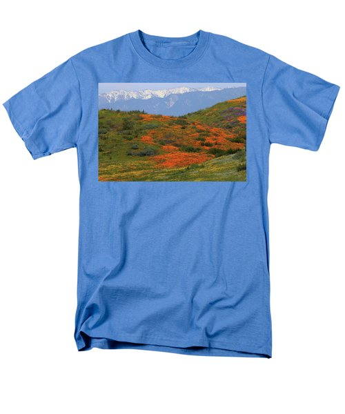 Men's T-Shirt  (Regular Fit) featuring the photograph Spring Wildflower Display At Diamond Lake In California by Jetson Nguyen