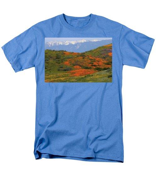 Spring Wildflower Display At Diamond Lake In California Men's T-Shirt  (Regular Fit) by Jetson Nguyen