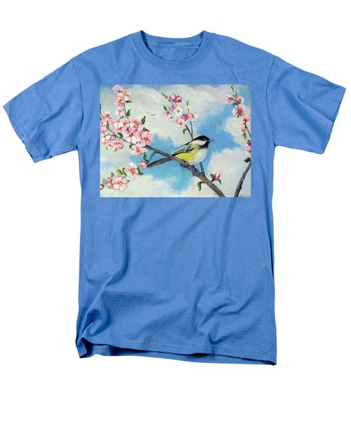 Men's T-Shirt  (Regular Fit) featuring the painting Spring's Promise by Donna Tucker