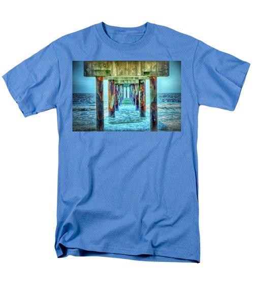 Men's T-Shirt  (Regular Fit) featuring the photograph St. Augustine Beach by Louis Ferreira