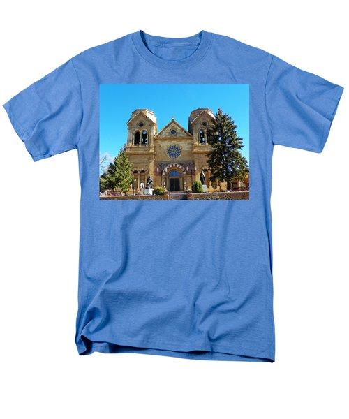 St. Francis Cathedral Santa Fe Nm Men's T-Shirt  (Regular Fit) by Joseph Frank Baraba