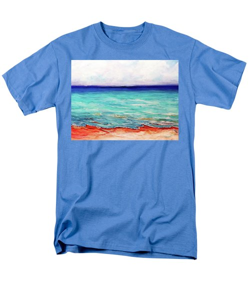 Men's T-Shirt  (Regular Fit) featuring the painting St. George Island Breeze by Ecinja Art Works