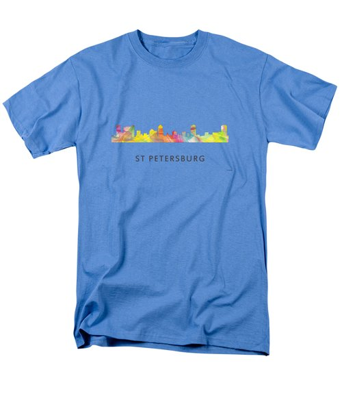 St Petersburg Florida Skyline Men's T-Shirt  (Regular Fit) by Marlene Watson