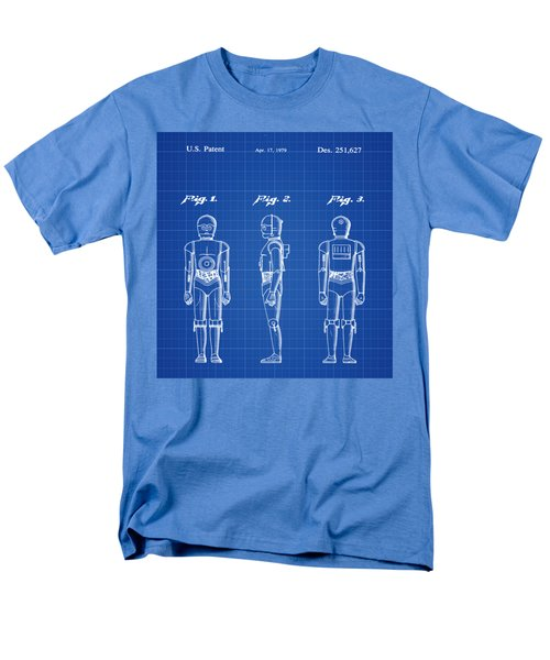 Men's T-Shirt  (Regular Fit) featuring the photograph Starwars C3p0 Blue Print by Bill Cannon