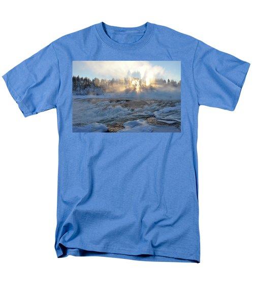 Storforsen, Biggest Waterfall In Sweden Men's T-Shirt  (Regular Fit) by Tamara Sushko
