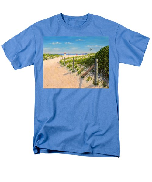 Men's T-Shirt  (Regular Fit) featuring the painting Summer 12-28-13 by Joe Bergholm