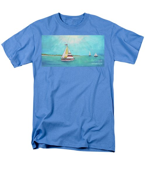 Men's T-Shirt  (Regular Fit) featuring the painting Summer Breeze-b by Jean Plout