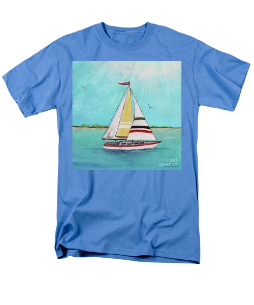 Men's T-Shirt  (Regular Fit) featuring the painting Summer Breeze-d by Jean Plout