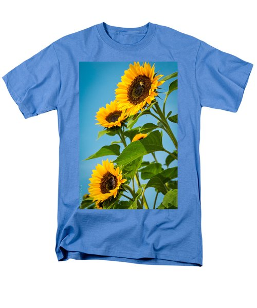 Sunflower Morning Men's T-Shirt  (Regular Fit) by Debbie Karnes