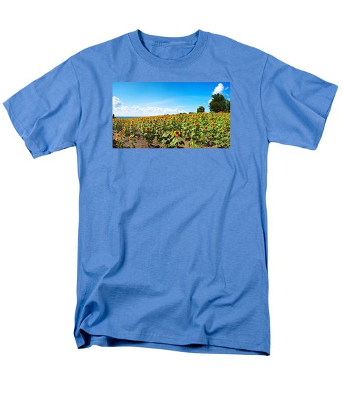 Men's T-Shirt  (Regular Fit) featuring the photograph Sunflowers In Ithaca New York by Paul Ge