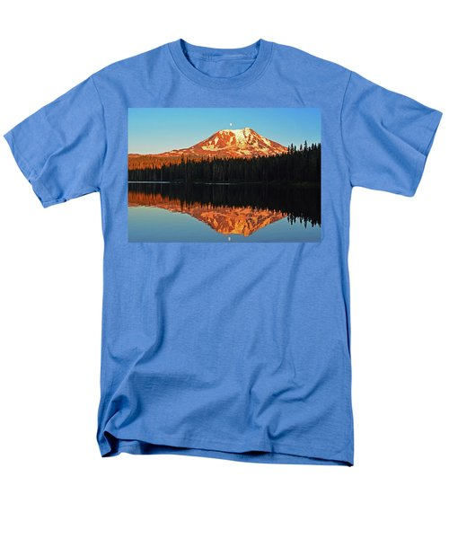 Sunset And Sunrise Mt Adams Men's T-Shirt  (Regular Fit) by Jack Moskovita