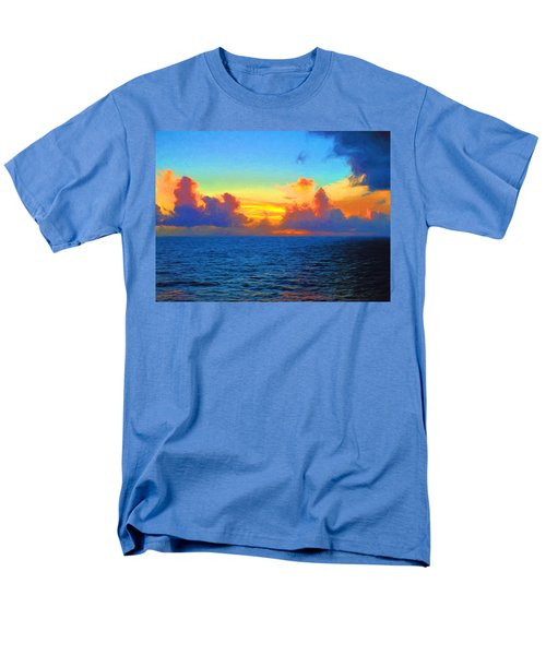 Sunset At Sea Men's T-Shirt  (Regular Fit) by Greg Norrell