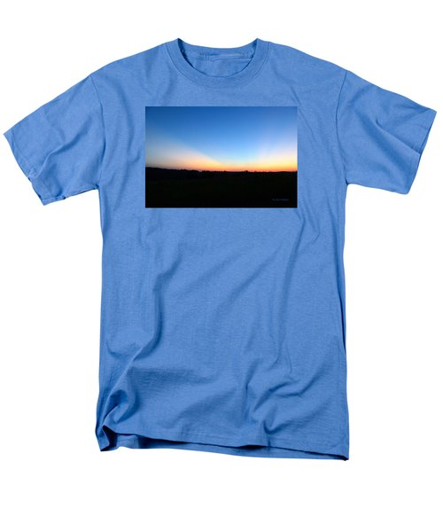 Men's T-Shirt  (Regular Fit) featuring the digital art Sunset Blue by Jana Russon